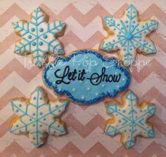 Let it Snow - Christmas/Winter Cookies www.trufflepopshoppe.com