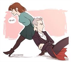 Season 8 of Doctor Who: in which the Doctor acts like a grumpy old man and Clara sorts him out. Doctor Who Fan Art, 13th Doctor, Twelfth Doctor, Christopher Eccleston, Peter Capaldi, Karen Gillan, Matt Smith, Wuhan, Time Lords