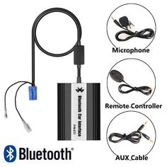(59.49$)  Know more - http://aifog.worlditems.win/all/product.php?id=32792464365 - APPS2Car Bluetooth Adaptateur USB AUX Interface via Changeur CD Autoradio Mains Libres Micro Telecommande pour Renault 8 Broches