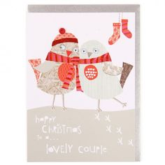 Lovely couple robins Christmas card