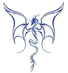 http://tattooimages.biz/images/gallery/Blue-ink_outline_dragon_with_huge_open_wings_tattoo_design.jpg