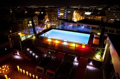 Rooftop Pool - at night