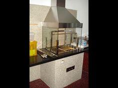 Churrasqueira com coifa inox e lateral de vidro - CC6
