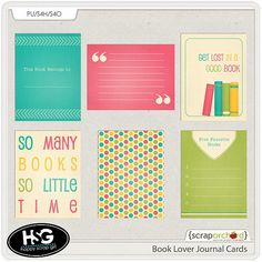 Book Lover Journal Cards