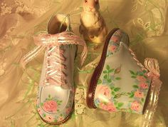 Madelyn handpainted toddler shoes by ERAsistible by ERAsistible, via Flickr