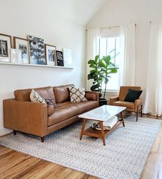 Home Interior Living Room .Home Interior Living Room Boho Living Room, Living Room Interior, Living Room Decor, Tan Sofa Living Room Ideas, Midcentury Modern Living Room, Brown Leather Couch Living Room, Leather Couches, Brown Couch, Small Couches Living Room
