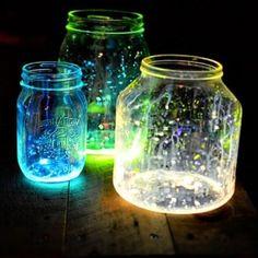 Using glow sticks! really cool