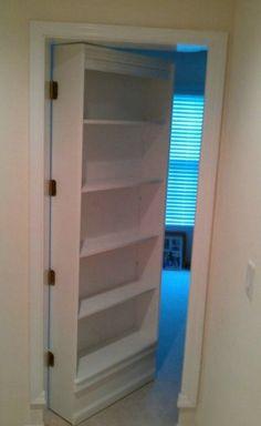 DIY - Secret Bookshelf Door, Landon's room