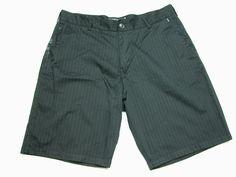 Billabong Mens Shorts 38 Black Striped Board Walking  Skater ( Measure 38X11 )…