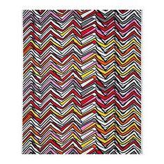 LYNDBY stof, rood/zwart, zigzagpatroon Breedte: 150 cm Hoogte van het patroon: 92 cm