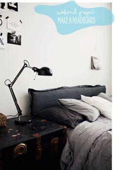 Poppytalk: Weekend Project: Make a Headboard Cover