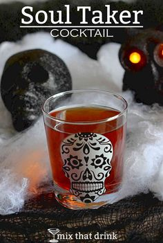 The Soul Taker is a potent little shot drink that's perfect for Halloween. It features equal parts vodka, tequila and amaretto. The amaretto smooths the rough edges of the vodka and tequila and adds a little sweetness.