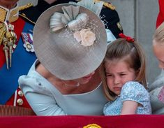 KATE, the Duchess of Cambridge, comforted Princess Charlotte at today's Trooping the Colour ceremony after the young royal suffered a minor mishap during the festivities. Queen Elizabeth Birthday, Trooping The Colour 2018, George Of Cambridge, William Kate, Prince William, William Windsor, Duke William, Baby Prince, Isabel Ii