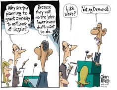 """""""Why are you planning to grant amnesty to millions of illegals?"""" cartoon couldn't be more spot on Read more at http://www.youngcons.com/why-are-you-planning-to-grant-amnesty-to-millions-of-illegals-cartoon-couldnt-be-more-spot-on"""