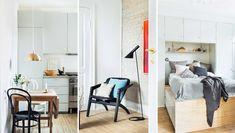 Da Gro og Martin satte den slidte lejlighed fra 1902 i stand, var det i kapløb med tiden. Alt skulle nemlig gerne stå klart, inden lille Ellinor kom til verden. Det lykkedes næsten, endda med geniale løsninger – og en ny frisk stil. Interior Styling, Oversized Mirror, Divider, Furniture, Home Decor, Interior Decorating, Interior Design, Home Interior Design, Arredamento