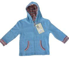 Gilet polaire bio équitable pour bébé coloris bleu #polairebebebio