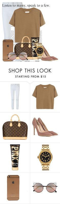 """Untitled #187"" by fashionchicxx ❤ liked on Polyvore featuring Rebecca Minkoff, Madewell, Louis Vuitton, Gianvito Rossi, Nixon and Linda Farrow"