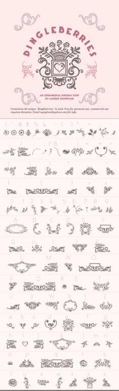 Free Dingbat Fonts | Design | Pinterest | Free dingbats, Design ...