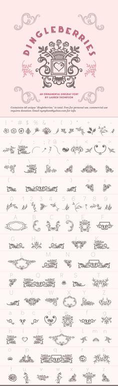 Free Dingbat Fonts | Design | Pinterest | Free dingbats, Design ...