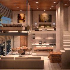 Trendy home interior loft tiny house ideas Loft Design, Tiny House Design, Modern House Design, Design Case, Stand Design, Design Model, Best Interior Design, Interior Design Living Room, Interior Ideas