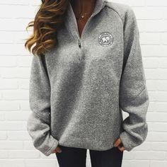 Grey Heathered Quarter Zip