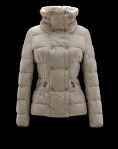 Last Style Cheap Moncler Jacket Pivoine 3 Long Cream