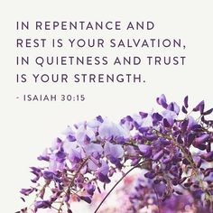 In repentance and rest is your salvation, in quietness and trust is your strength. Isaiah I can't tell you how much I needed these… Scripture Quotes, Bible Scriptures, Isaiah 30 15, Prophet Isaiah, Christian Post, Lord Is My Strength, The Shepherd, Gods Grace, The Kingdom Of God