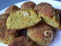 Recept na smažené zeleninové karbanátky z brokolice, karotky a červené čočky. Baked Potato, French Toast, Muffin, Potatoes, Vegan, Baking, Breakfast, Ethnic Recipes, Food
