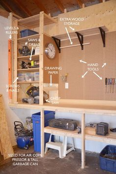 Diy power tool organizer quick and easy tutorial remodelaholic toronto diy design and lifestyle blog about renovation decorating crafts and making solutioingenieria Image collections