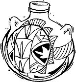 Unmounted Rubber Stamp, Southwest Stamps, South Western Pottery, Hopi Pot