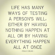 Quote #56 Life Has Many Ways Of Testing A Person