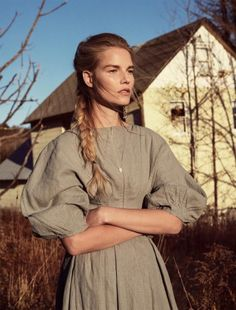 Suvi Koponen lives the simple life for the February 2016 cover story of Vogue Russia. Captured in the countryside, the blonde beauty wears romantic looks from the spring collections in the dreamy images. Photographed by Sebastian Kim and styled by Natasha Royt, Suvi embraces super feminine frocks from top brands such as Blumarine, Etro and …