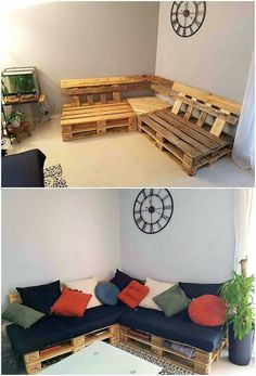 Awesome DIY Wood Pallet Ideas to Freshen Up Your Home: Look around you! You will find yourself crowded with the thousands or we would millions of ideas that are creatively named for the wood pallet. Garden Furniture Inspiration, Garden Furniture Design, Pallet Garden Furniture, Furniture Dining Table, Diy Furniture, Patio Table, Rustic Furniture, Diy Wood Pallet, Diy Pallet Sofa