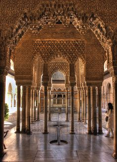 Alahambra Palace - Home of Ferdinand and Isabella after they conquered what is now Granada and drove the Moors from Europe. The Infanta Katarina was raised here before she went to England to marry Arthur, then Henry VIII: Catherine of Aragon.