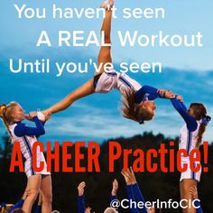 """So true! I hate how everyone thinks cheer is a """"girly"""" sport!! be appreciative!"""