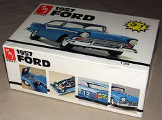 1957 Ford 1:25-Scale Plastic Model Kit by AMT/Ertl, Made in the USA.