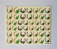 Happy Stickers: #Clover #Horseshoe #Ladybug #Chimneysweep  #Nails #stpatricksday #WaterslideDecals  #NailArt #NailWraps #NailDecals