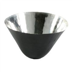 Conical Metal Bowls Set of 3 - Black / Copper,Gold,Silver