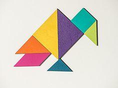 Tangram magnétique, jolies couleurs