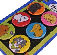 Pomeranian Silly Dog Magnet Set by SillyDogMagnets on Etsy, $8.99