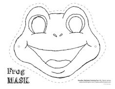 frog mask colouring pages Frog Template, Animal Mask Templates, Frog Mask, Frog Facts, Paper Face Mask, Frog Theme, Printable Masks, Animal Masks, Colouring Pages