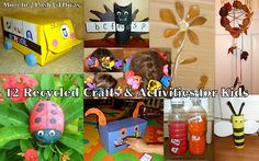 12 Fun Recycled Crafts, Activities & Art Ideas for kids #Momto2PoshLilDivas