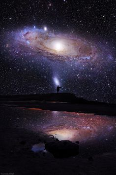 Some part of our being knows this is where we came from. We long to return. And we can. Because the cosmos is also within us. We're made of star-stuff. We are a way for the cosmos to know itself. ~Carl Sagan | Image: Younés Ahlafi
