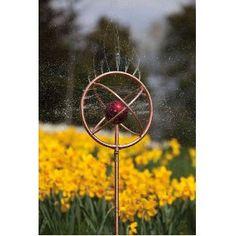 Decorative Copper Finish Sprinkler with Red Globe