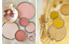 love these dusty pinks and soft mustards