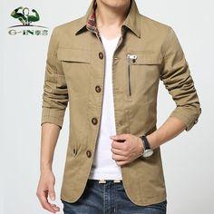 >> Click to Buy << Brand Tops 2015 New Hot Men Jacket Cotton Outwear Men's Coat Casual Fit Style Designer Fashion Jacket Men 3 Colors M~4L #Affiliate