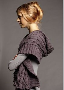 Image of 010 cable shawl-digital download