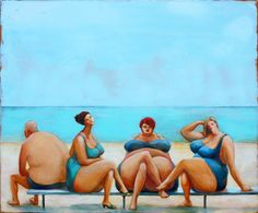 View Agnese Kurzemniece's Artwork on Saatchi Art. Find art for sale at great prices from artists including Paintings, Photography, Sculpture, and Prints by Top Emerging Artists like Agnese Kurzemniece. Art Painting, Curvy Art, Plus Size Art, Painting, Illustration Art, Art, Beach Art, Saatchi, Saatchi Art