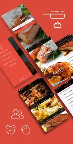 Let's Cook - Cooking & Recipe App Design Concept - PSDs on Behance