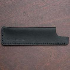 Chicago Steel Comb Black Horween Leather Case No.1 No.3
